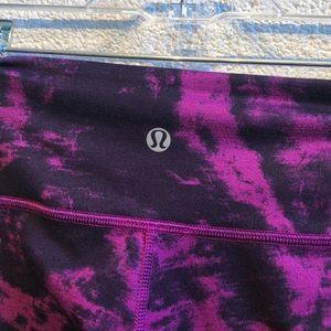 lululemon athletica Pants - Lululemon purple & black full length legging sz 4